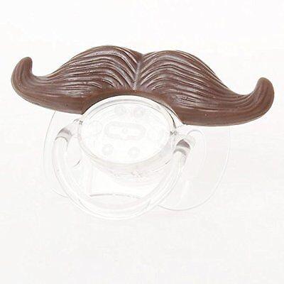 Baby Classic Gentleman Beard Mustache Baby Boy Girl Pacifier Nipples Brown