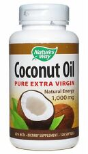 Nature's Way Coconut Oil 1000 mg Softgels 120 Soft Gels