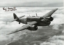 BOMBER COMMAND In Person Signed 12x8 Photo WW2 BRISTOL BEAUFORT Proof COA