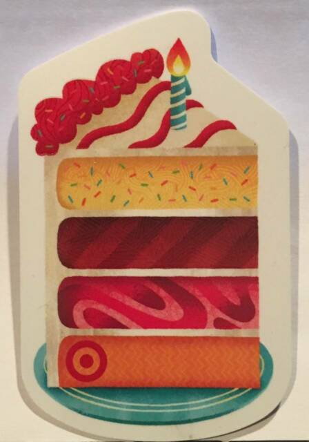 Target Four 4 Layer Birthday Cake Candle Die Cut 2015 Gift Card 790
