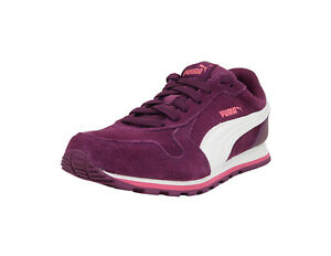 e202335d1578 PUMA Shoes Big Kids ST Runner SD Jr Dark Purple-Marshmallow Youth ...