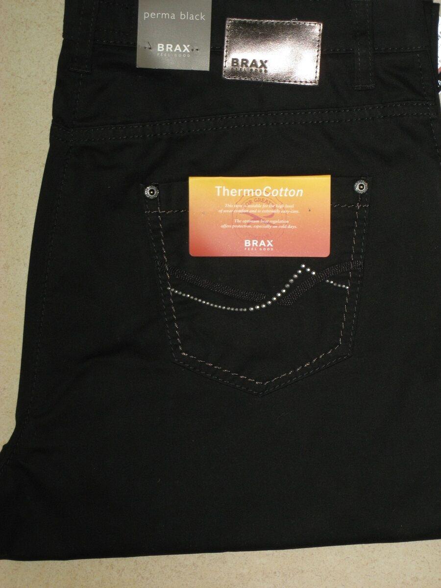 BRAX Jeans Stretchjeans Mary Thermo Denim perma schwarz Herbst Winterqualität NEU