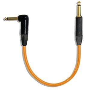 30 Inch Canare GS6 Pedal Effect Patch Cable w//Neutrik Gold Series  RA-S/_ORANGE