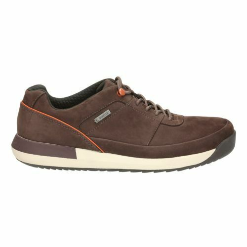 Clarks Men  Johto Lace GTX Dark Brown Nubuck  Cushioning  UK 7,8,10,11 G