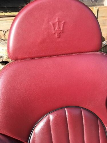 Maserati 3200 Red Leather Armchair - Mancave Essential- Unique Upcycled Salvage