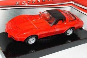 Chevrolet-Corvette-1979-Red-Classic-Metal-Model-Car-Motormax-1-24