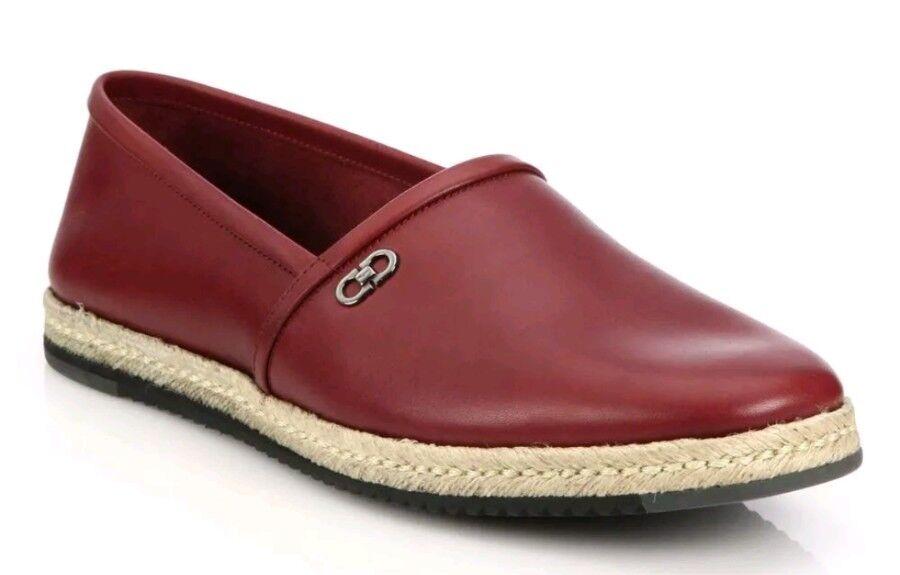 NEW Salvatore Ferragamo Giunone 2 Leather Slip On shoes US 13 D(M) Made in