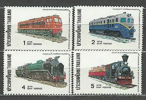 Thailand - Mail Yvert 803/6 MNH Trains