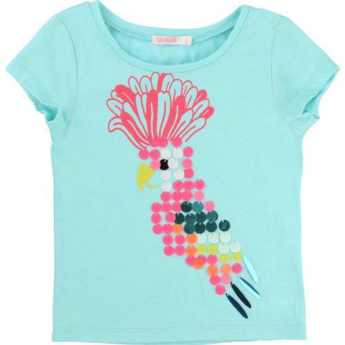 BILLIEBLUSH Mädchen T-Shirt PAPAGEI U15417 Shirt Sommershirt Pailletten NEU
