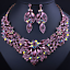Ladies-Fashion-Crystal-Pendant-Choker-Chain-Statement-Chain-Bib-Necklace-Jewelry thumbnail 96