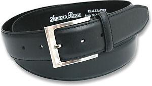 Nuevo-Para-Hombre-Negro-o-marron-cuero-verdadero-cinturon-Jeans-Tallas-32-60-Nuevo-Con-Etiquetas