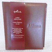 Hallmark Brown Leather 6-ring Address Book