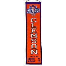 Clemson Tigers NCAA 2016 National Champions Heritage Banner Winning Streak