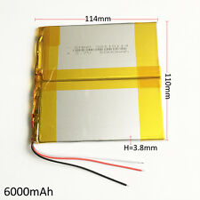 3.7V 6000mAh LiPo li-Polymer Battery For Power Bank Tablet PC laptop 38110114