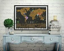 Scratch off world map poster personalized journal log gift deluxe deluxe travel edition scratch off world map poster personalized journal log gift gumiabroncs Images