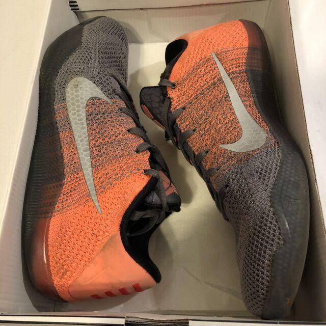 a5fa8eaa53d Nike Zoom Kobe XI 11 Elite Low Easter Shoes Grey Bright Mango 10.5 (822675-