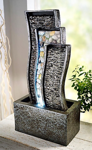 zimmerbrunnen tischbrunnen harmony natur stein optik led. Black Bedroom Furniture Sets. Home Design Ideas