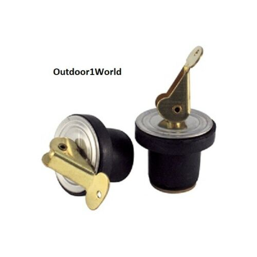 """Marpac 7-0572 Boat Baitwell Plug 3//4/"""" Livewell Cooler Brass Neoprene 2 Pack"""