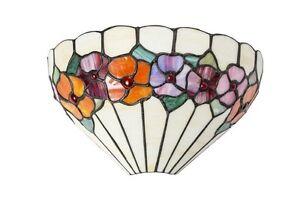 Plafoniera Fiori Colorati : Applique in stile tiffany vetro plafoniera da muro panna con fiori
