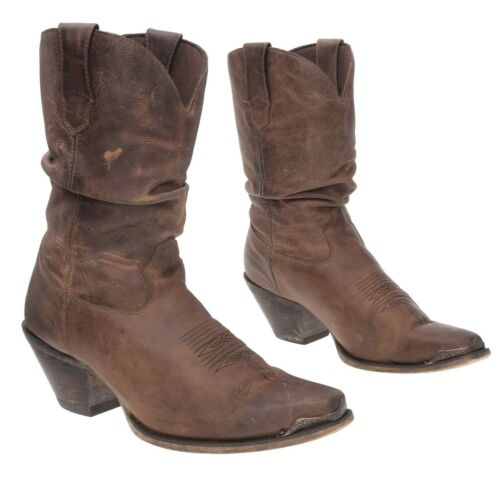 DURANGO Cowboy Boots 9 M Womens Distressed Leathe… - image 1