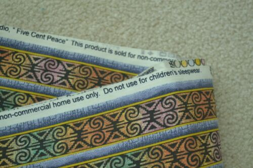 """Springs 45/"""" Gold /& Green Stripes on Quilter/'s Cotton By-the-Half-Yard M6557"""
