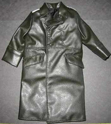 IN THE PAST TOYS WWII German Officers 1//6 Toy Trench Coat silver shoulderboards