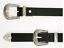 CINTURA-CINTA-DOPPIA-FIBBIA-DA-DONNA-western-texana-nero-argento-jeans-ecopelle miniature 1