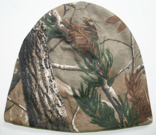 real tree beanie hunting cap hat stocking camo camoflauge lined