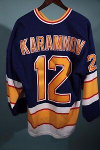 Vintage-90s-Maska-CCM-St-Louis-Blues-Vitali-Karamnov-Jersey-NHL-Hockey