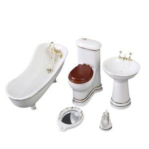 Image Is Loading 1 12 Children Doll House Bathroom Furniture Set