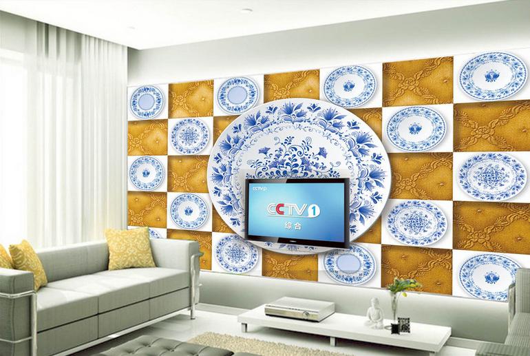 3D Blaues Weißes Porzellan 86 Tapete Wandgemälde Tapete Tapeten Bild Familie DE