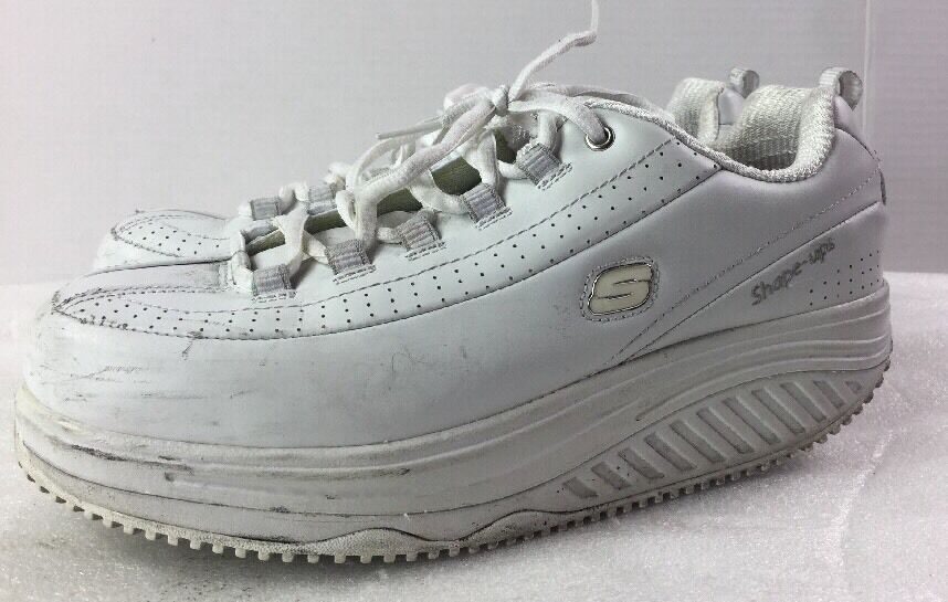 Skechers Shape Ups 76428EW White Work Slip Resistant Shoes SIZE 9.5