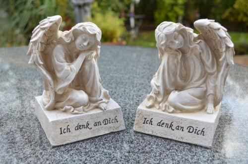 Grabengel Engel Schutzengel Grabschmuck Deko Engelfigur Trauerengel 2er Set NEU