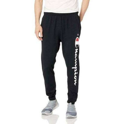 Details about  /Champion Graphic Jersey Jogger Sweatpants Black