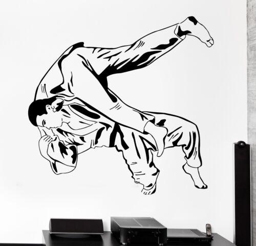 Wall sticker sport JUDO JIU-JITSU lutteurs Arts Martiaux Autocollant Vinyle z3013