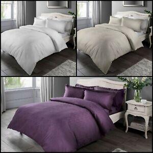 Luxury-Damask-Jacquard-Duvet-Quilt-Cover-Bedding-Set-amp-Pillowcases-All-Sizes