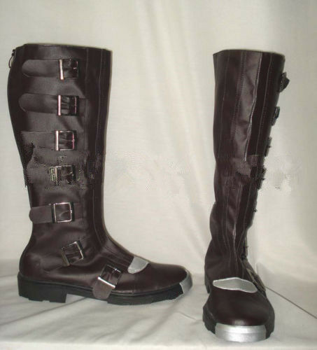 classic version of Battlestar Galactica Cosplay Boots Custom-Made Black