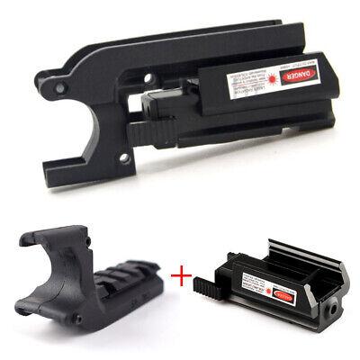 Tactical AEG Pistol Base Rail Sight Laser Lighting Mount for Glock 17 5.56 1911