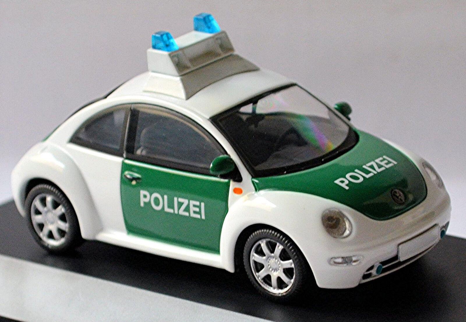 VW POLIZEI Volkswagen New Beetle Typ 9C 1997-2005 German Police 1 43 Schuco
