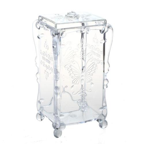 Tupfer Organizer Wattepad Box Schmuck Kaste Schmuckbox Kosmetik Case Acryl C7R7