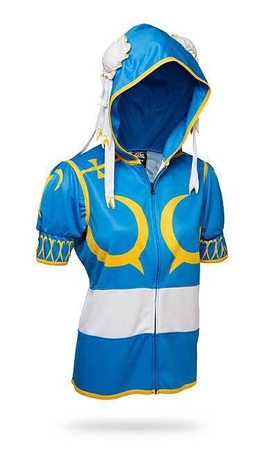 (Größe  XL) Street Fighter Hoodie Licensed Capcom Cosplay Chun Li Chun-Li Costume