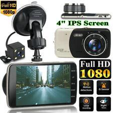 """4"""" видеорегистратор рекордер двойной объектив камера HD 1080P автомобильный DVR автомобиля видео G-сенсор"""