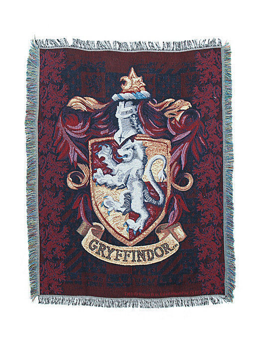 HARRY POTTER GRYFFINDOR SCHOOL WOVEN TAPESTRY THROW BLANKET BLANKET BLANKET 50 X 60  MADE IN USA 5080b4