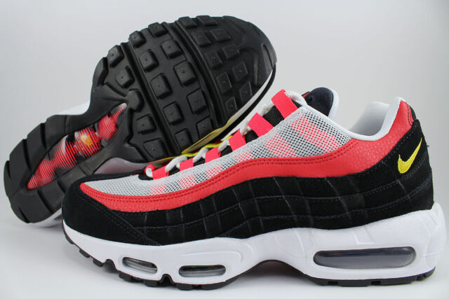 NIKE AIR MAX 95 WHITECHROME YELLOWCRIMSON REDBLACK 1 90 RUNNING US MENS SIZES