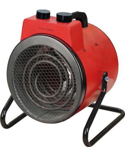 Heizlüfter BHP BG00465 Baustellenheizer 3000 Watt Rot Heizung Elektrisch Gebläse