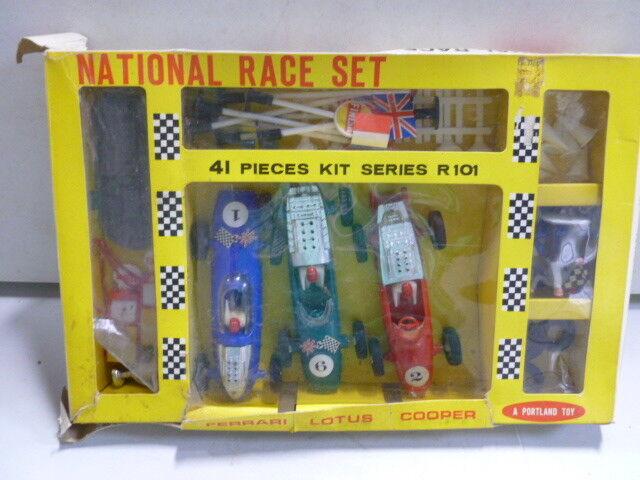 sport caldi Portle giocattolo National Race Set Ferrari, Lotus, Lotus, Lotus, Cooper w original scatola  fabbrica diretta