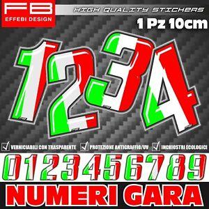 Adesivi-Stickers-NUMERO-GARA-NUMERI-TRICOLORE-Moto-Auto-Go-Kart-Quad-Barca-Tir