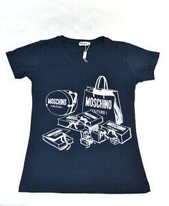 MOSCHINO-Damen-T-Shirt-stylisches-Motiv