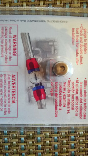 "Pressure Gauge fuel With Fitting For 3//8/"" Inside Diameter Hose 59013"
