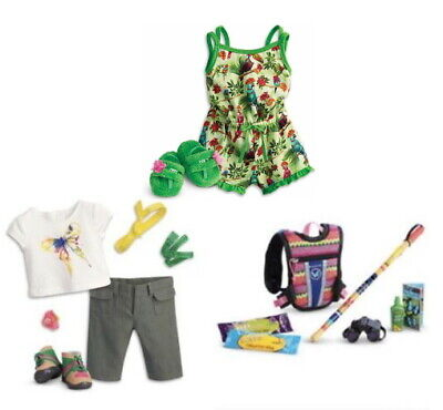 NEW AMERICAN GIRL LEA/'S RAINFOREST HIKE Hiking ACCESSORIES FOR DOLL COMPLETE SET